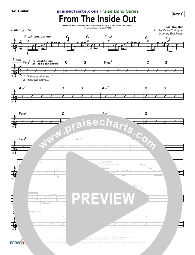 From The Inside Out Rhythm Chart (Phillips Craig & Dean)