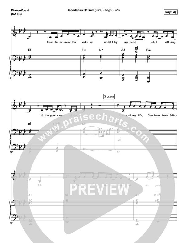 Goodness Of God (Live) Piano/Vocal (SATB) (CeCe Winans)