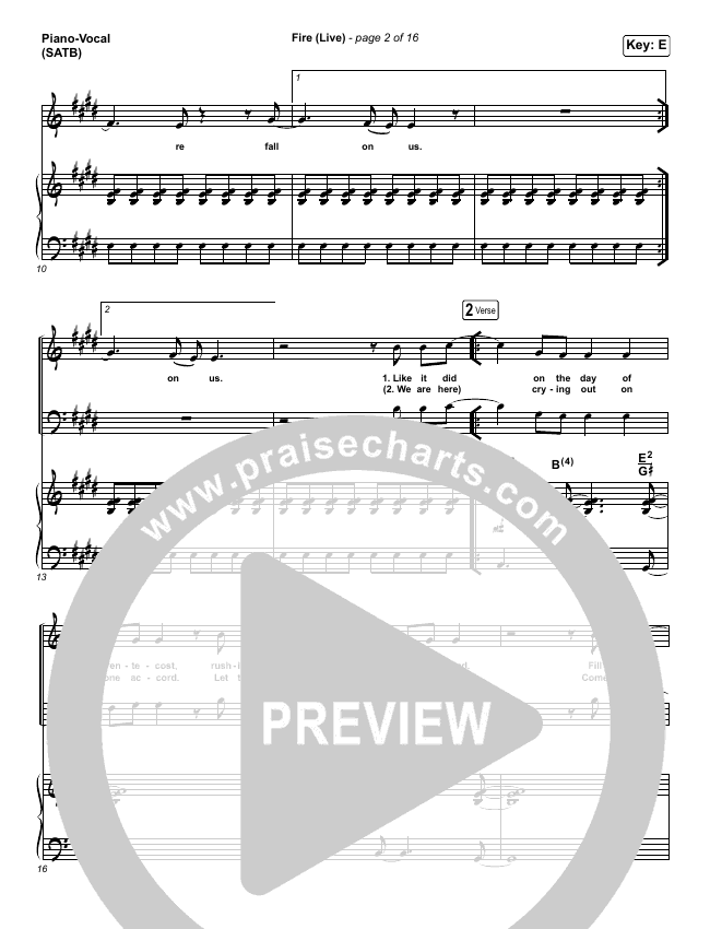 Fire Piano/Vocal (SATB) (CeCe Winans)