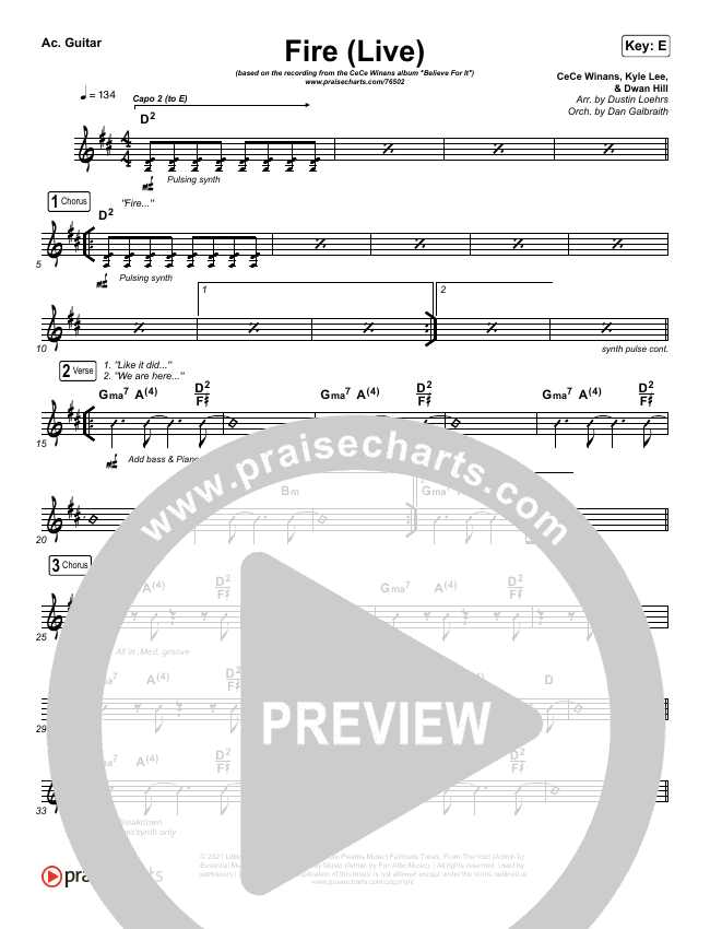 Fire Rhythm Chart (CeCe Winans)