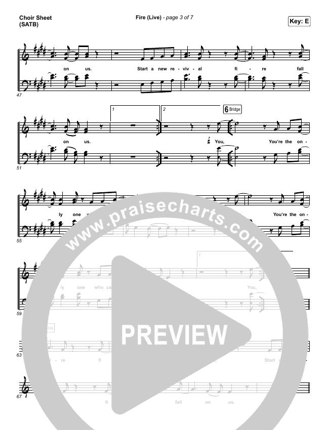 Fire Choir Sheet (SATB) (CeCe Winans)