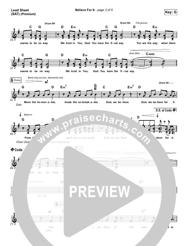 Believe For It (Premium) Orchestration & Finale (CeCe Winans / Arr. Cliff Duren)