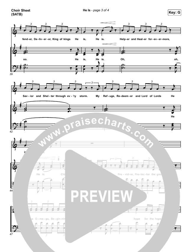 He Is Choir Sheet (SATB) (Crowder)