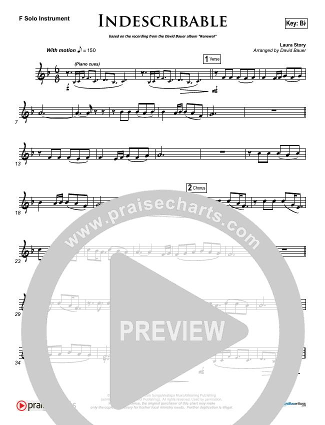 Indescribable (Instrumental) Piano Solo (David Bauer)