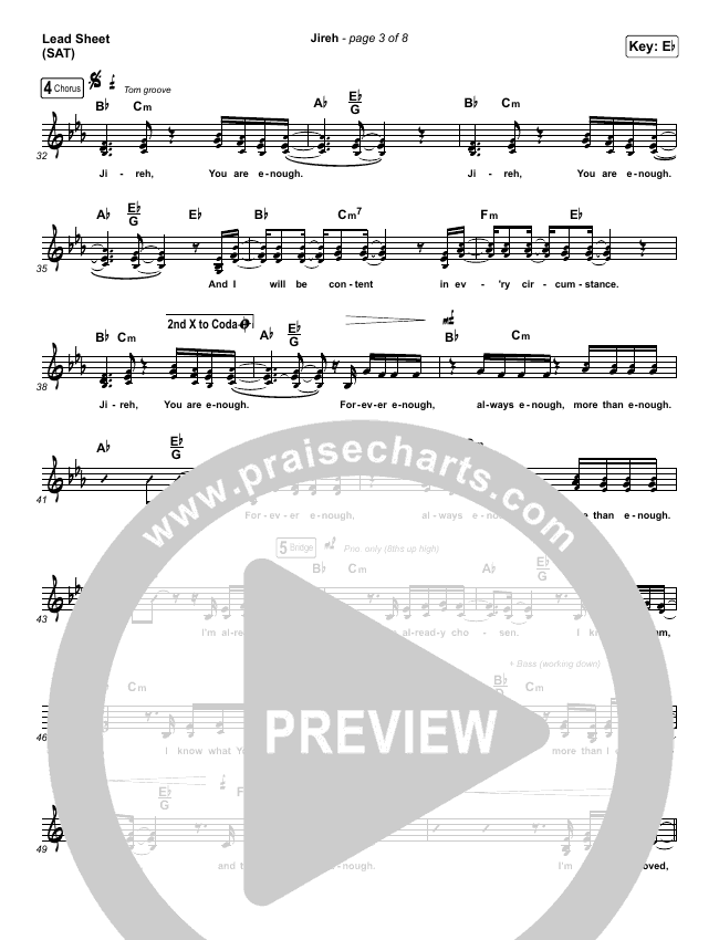 Jireh Lead & Piano/Vocal (Maverick City Music / Elevation Worship / Chandler Moore / Naomi Raine)