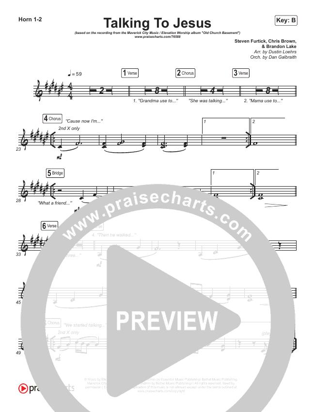 Talking To Jesus Brass Pack (Maverick City Music / Elevation Worship / Brandon Lake)