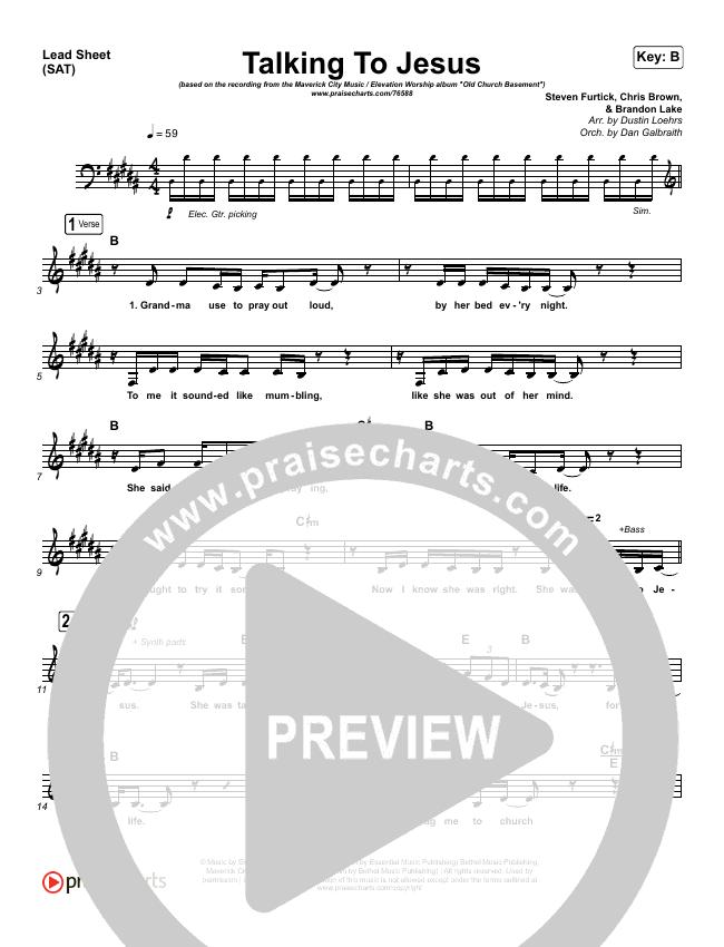 Talking To Jesus Piano/Vocal Pack (Maverick City Music / Elevation Worship / Brandon Lake)