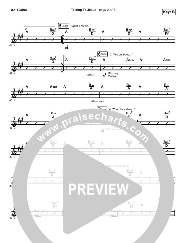 Talking To Jesus Rhythm Chart (Maverick City Music / Elevation Worship / Brandon Lake)
