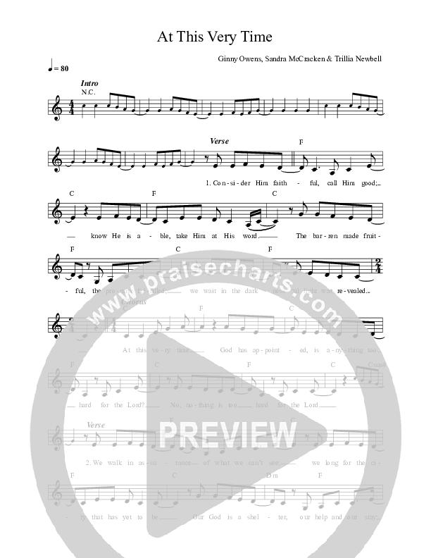 At This Very Time Lead & Piano (FAITHFUL / Savannah Locke)