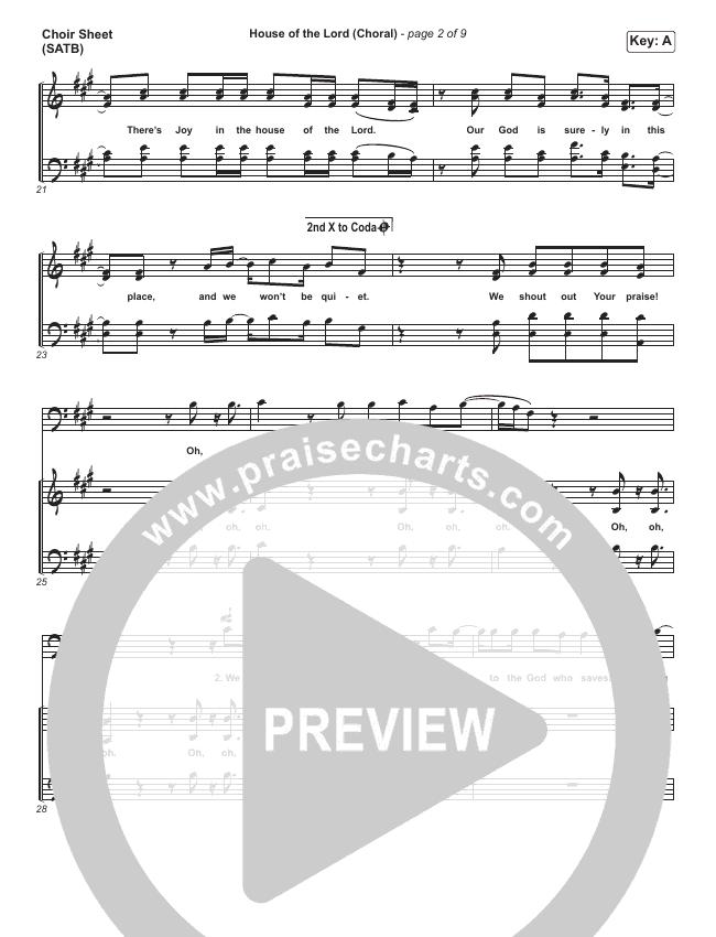House Of The Lord (Choral) Choir Sheet (SATB) (PraiseCharts Choral / Phil Wickham / Arr. Luke Gambill)