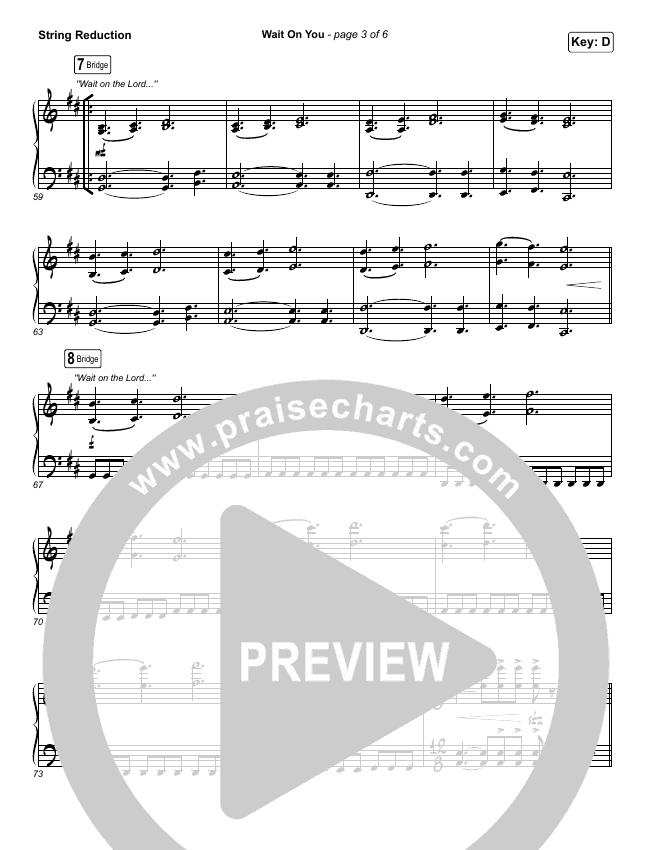 Wait On You String Pack (Maverick City Music / Elevation Worship / Dante Bowe / Chandler Moore)