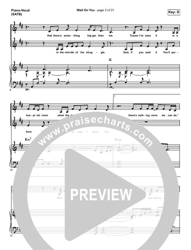 Wait On You Piano/Vocal (SATB) (Maverick City Music / Elevation Worship / Dante Bowe / Chandler Moore)