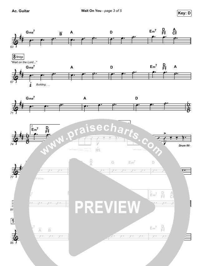 Wait On You Rhythm Chart (Maverick City Music / Elevation Worship / Dante Bowe / Chandler Moore)
