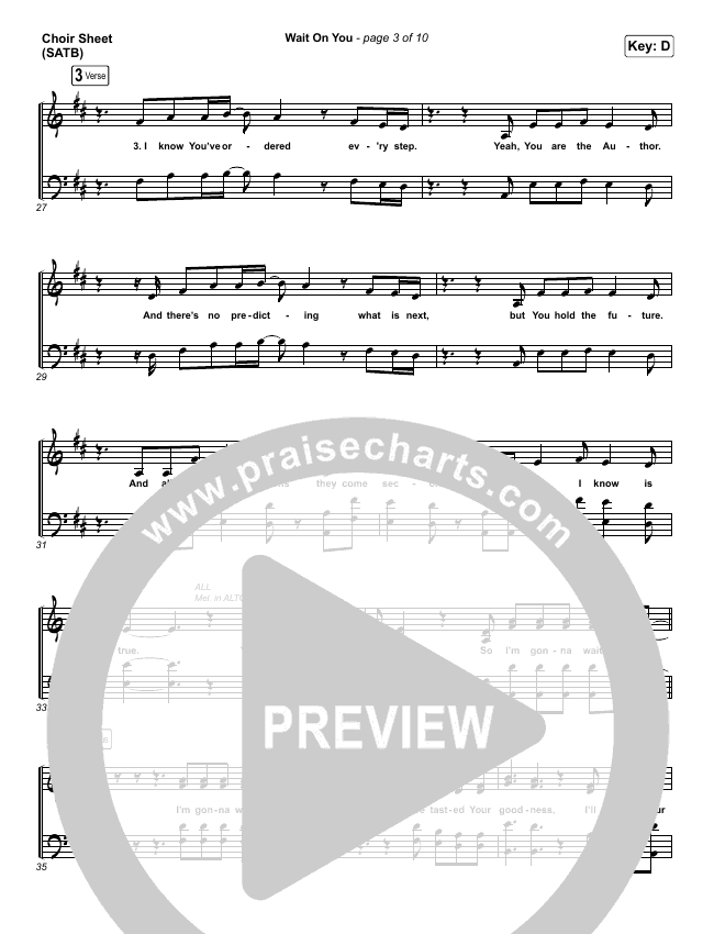Wait On You Choir Sheet (SATB) (Maverick City Music / Elevation Worship / Dante Bowe / Chandler Moore)