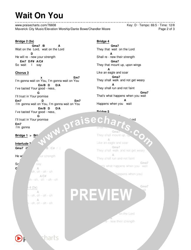 Wait On You Chords & Lyrics (Maverick City Music / Elevation Worship / Dante Bowe / Chandler Moore)