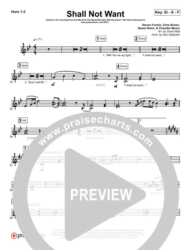 Shall Not Want Brass Pack (Maverick City Music / Elevation Worship / Chandler Moore)