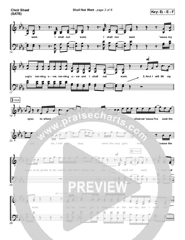 Shall Not Want Choir Sheet (SATB) (Maverick City Music / Elevation Worship / Chandler Moore)