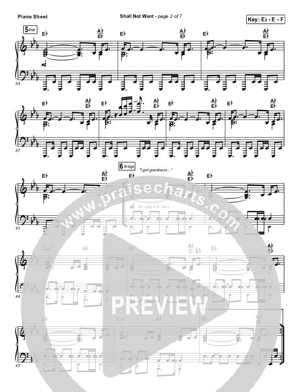 Shall Not Want Piano Sheet (Maverick City Music / Elevation Worship / Chandler Moore)