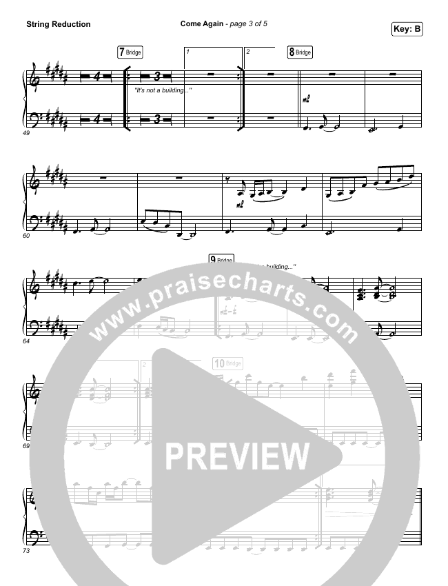 Come Again String Pack (Maverick City Music / Elevation Worship / Chandler Moore / Brandon Lake)