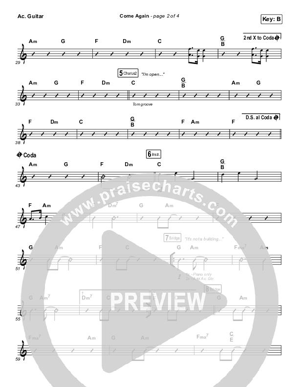 Come Again Acoustic Guitar (Maverick City Music / Elevation Worship / Chandler Moore / Brandon Lake)