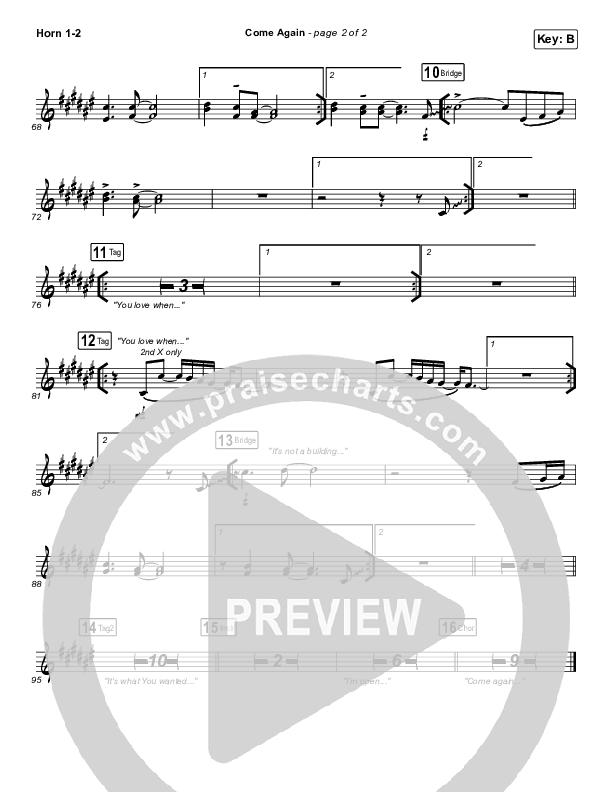 Come Again Brass Pack (Maverick City Music / Elevation Worship / Chandler Moore / Brandon Lake)