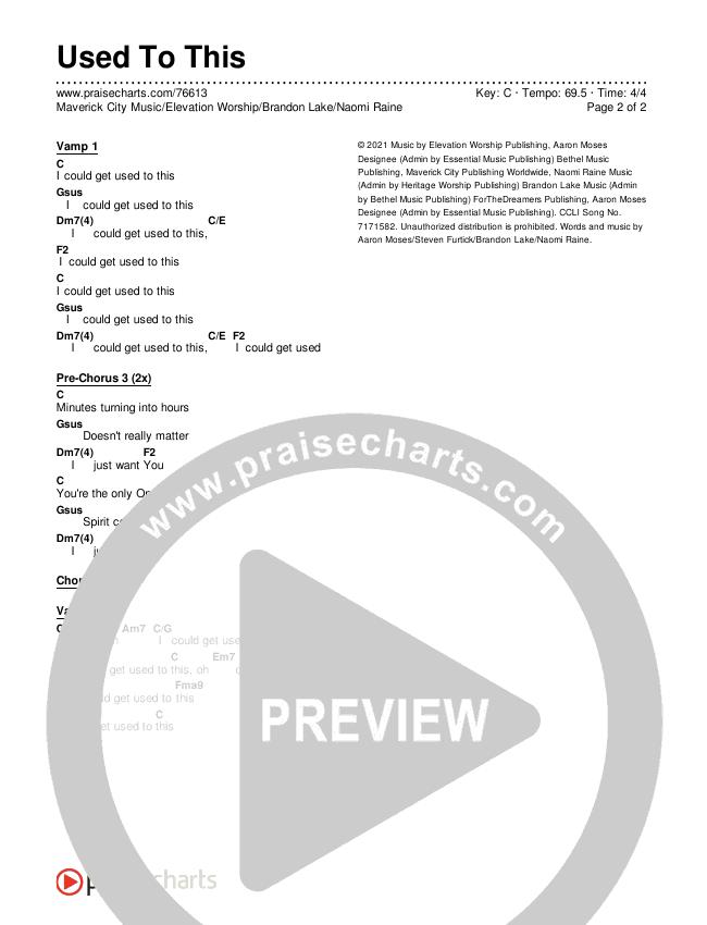 Used To This Chords & Lyrics (Maverick City Music / Elevation Worship / Brandon Lake / Naomi Raine)