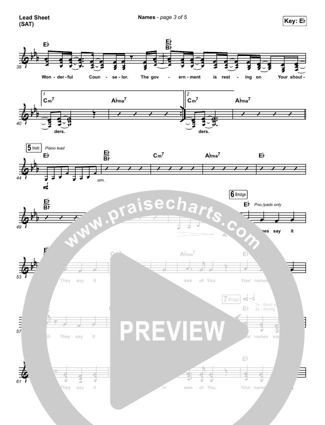 Names Lead & Piano/Vocal (Maverick City Music / Elevation Worship / Tiffany Hudson)