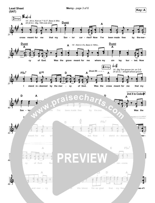 Mercy Piano/Vocal Pack (Maverick City Music / Elevation Worship / Chris Brown)