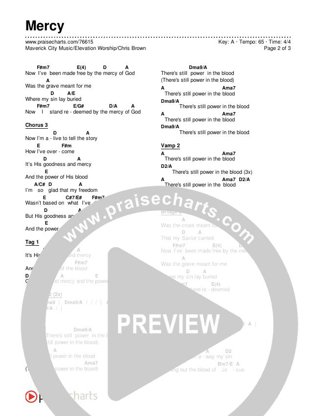 Mercy Chords & Lyrics (Maverick City Music / Elevation Worship / Chris Brown)