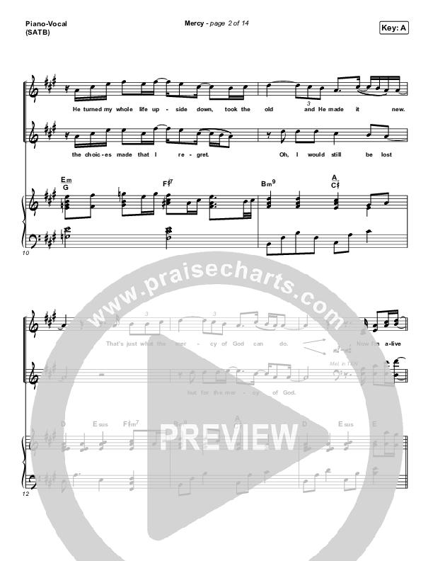 Mercy Piano/Vocal (SATB) (Maverick City Music / Elevation Worship / Chris Brown)