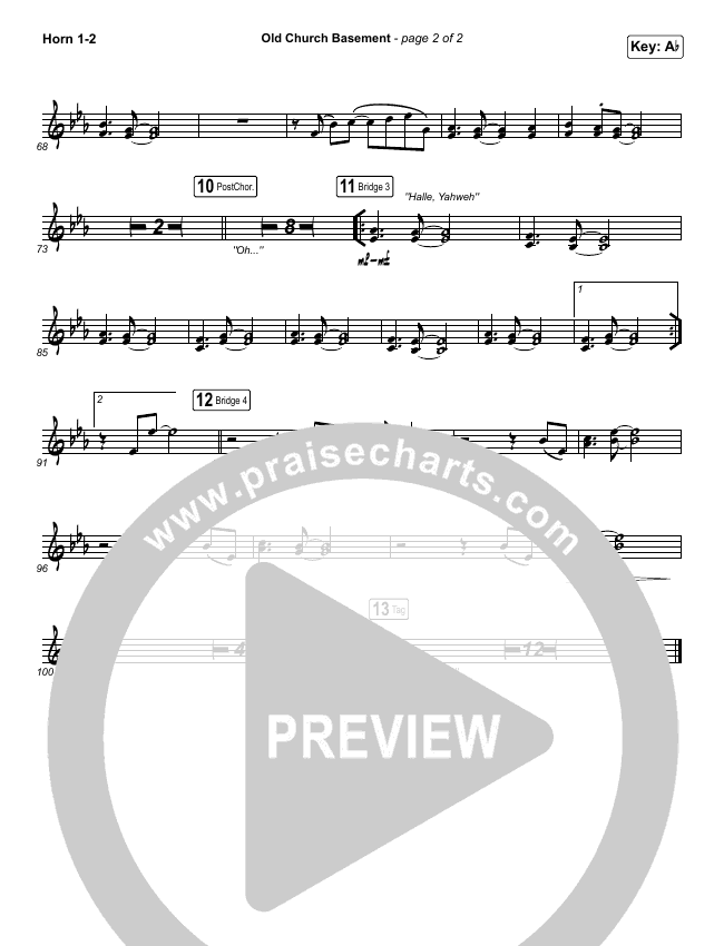 Old Church Basement Brass Pack (Maverick City Music / Elevation Worship / Dante Bowe)