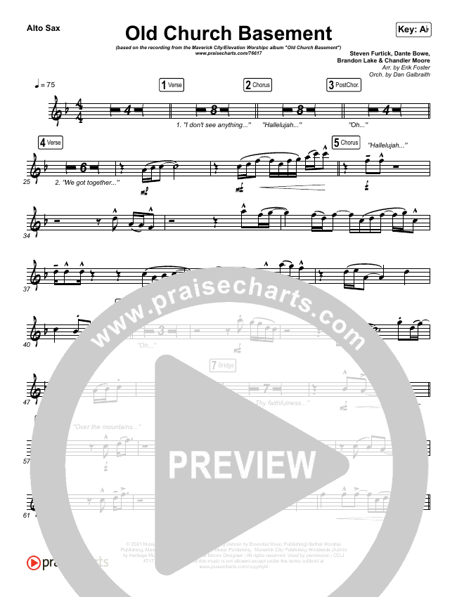 Old Church Basement Wind Pack (Maverick City Music / Elevation Worship / Dante Bowe)