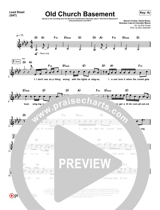 Old Church Basement Lead & Piano/Vocal (Maverick City Music / Elevation Worship / Dante Bowe)