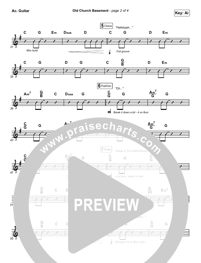 Old Church Basement Rhythm Chart (Maverick City Music / Elevation Worship / Dante Bowe)