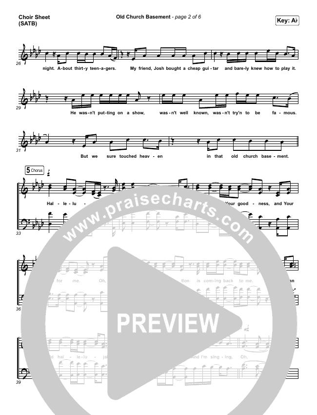 Old Church Basement Choir Sheet (SATB) (Maverick City Music / Elevation Worship / Dante Bowe)