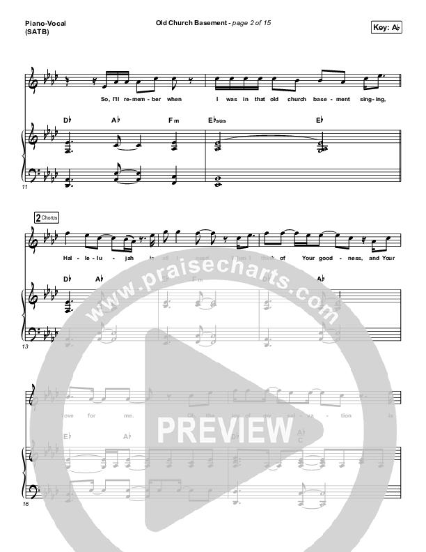 Old Church Basement Piano/Vocal (SATB) (Maverick City Music / Elevation Worship / Dante Bowe)