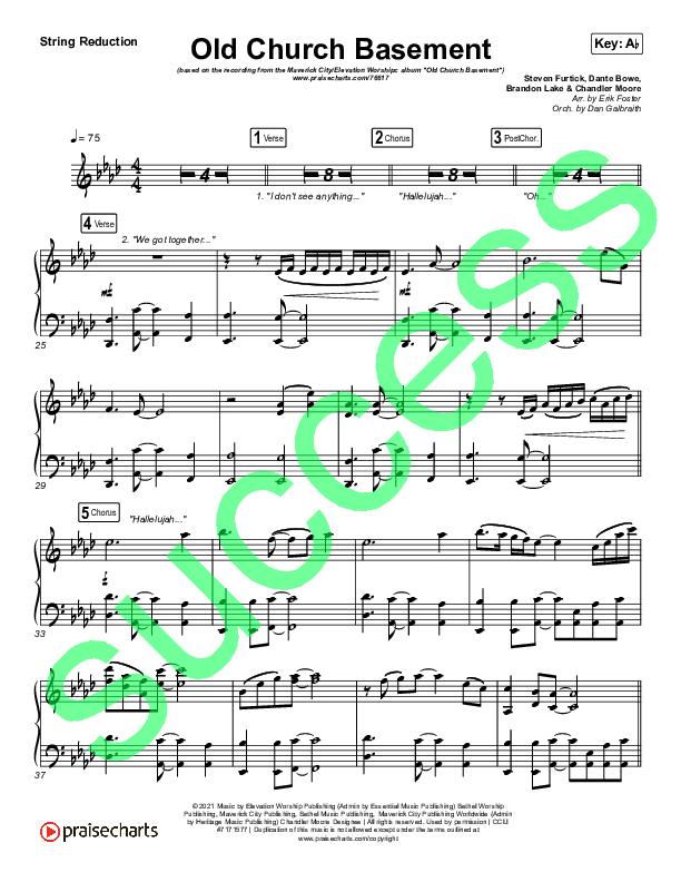 Old Church Basement String Pack (Maverick City Music / Elevation Worship / Dante Bowe)