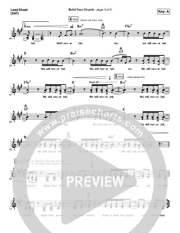 Build Your Church Lead Sheet (SAT) (Maverick City Music / Elevation Worship / Chris Brown / Naomi Raine)