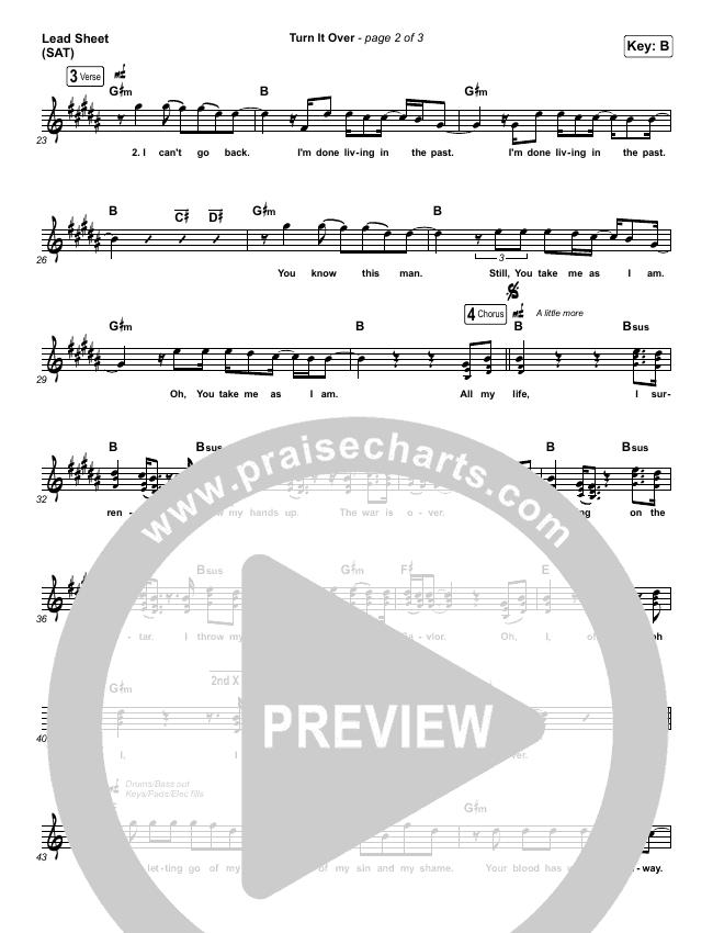 Turn It Over Lead & Piano/Vocal (Zach Williams)
