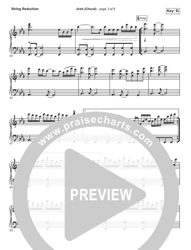 Jireh (Choral) String Pack (PraiseCharts Choral / Maverick City Music / Elevation Worship)
