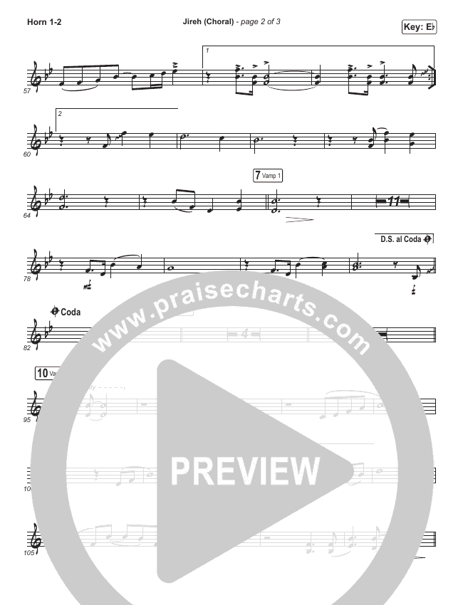 Jireh (Choral) Brass Pack (PraiseCharts Choral / Maverick City Music / Elevation Worship)