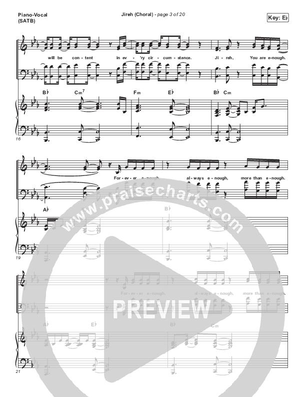 Jireh (Choral) Piano/Vocal (SATB) (PraiseCharts Choral / Maverick City Music / Elevation Worship / Arr. Luke Gambill)