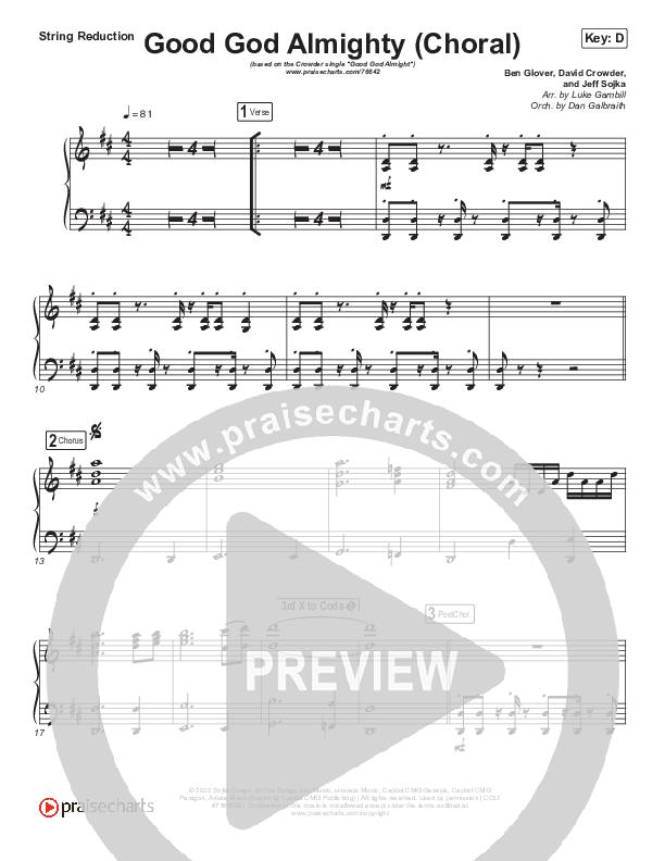 Good God Almighty (Choral) String Pack (PraiseCharts Choral / Crowder / Arr. Luke Gambill)