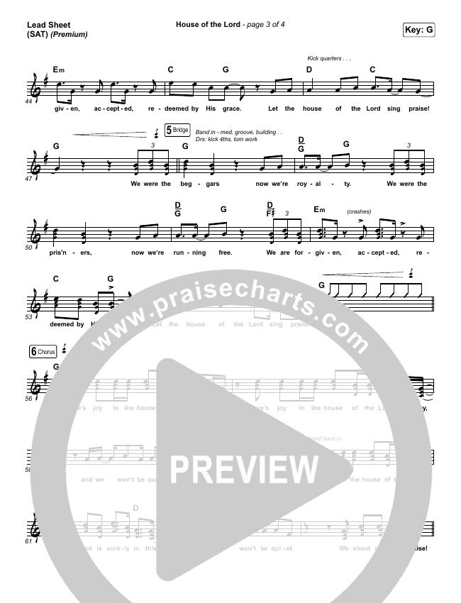 House Of The Lord (Premium) Orchestration & Finale (Phil Wickham / Arr. Cliff Duren)