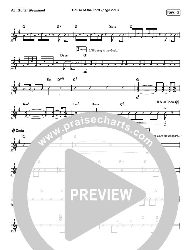 House Of The Lord (Premium) Rhythm Chart (Phil Wickham / Arr. Cliff Duren)