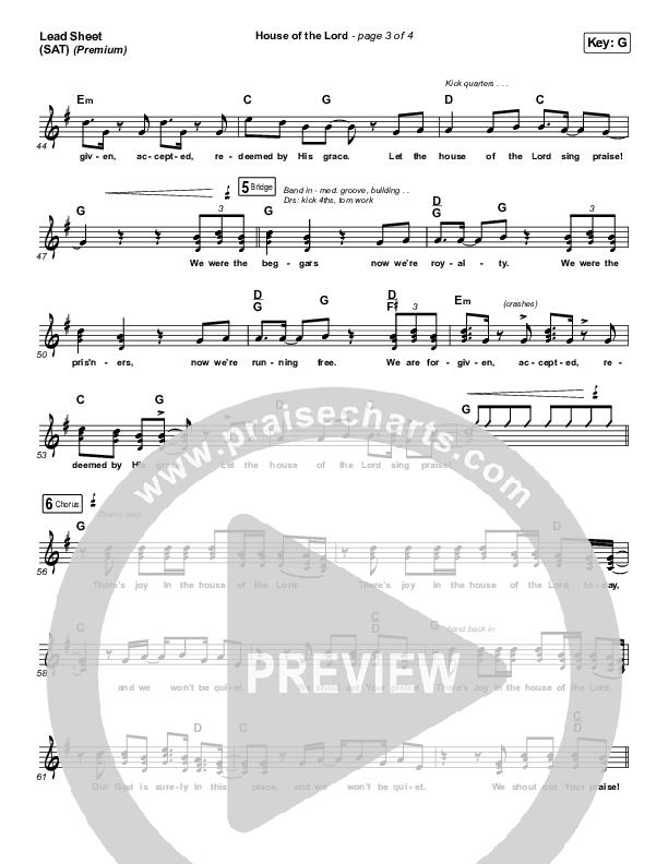 House Of The Lord (Premium) Lead Sheet (SAT) (Phil Wickham / Arr. Cliff Duren)