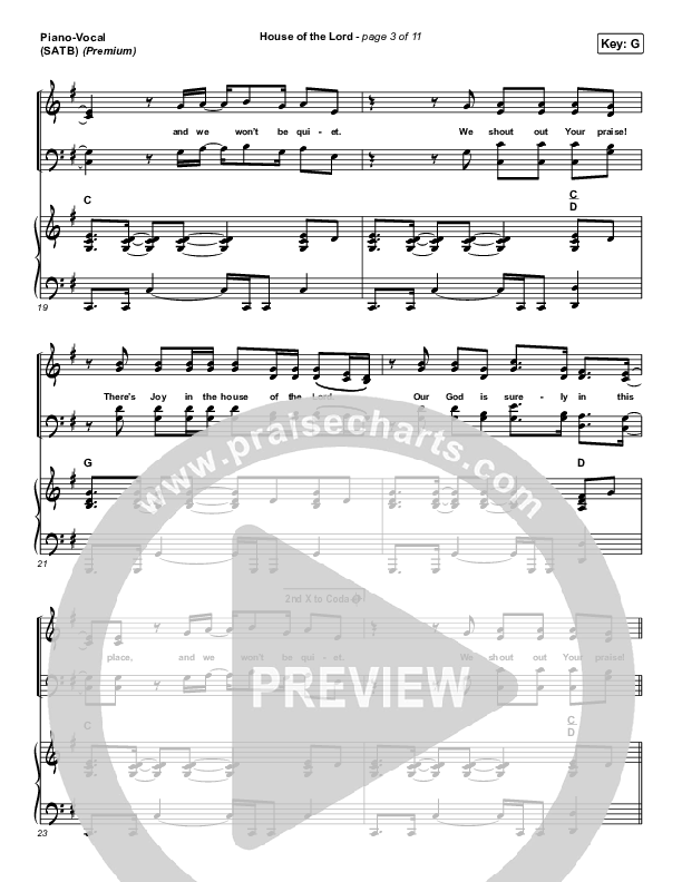 House Of The Lord (Premium) Piano/Vocal (SATB) (Phil Wickham / Arr. Cliff Duren)