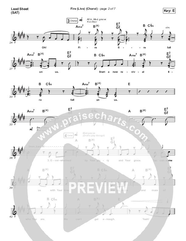 Fire (Choral) Lead Sheet (SAT) (PraiseCharts Choral / CeCe Winans / Arr. Luke Gambill)