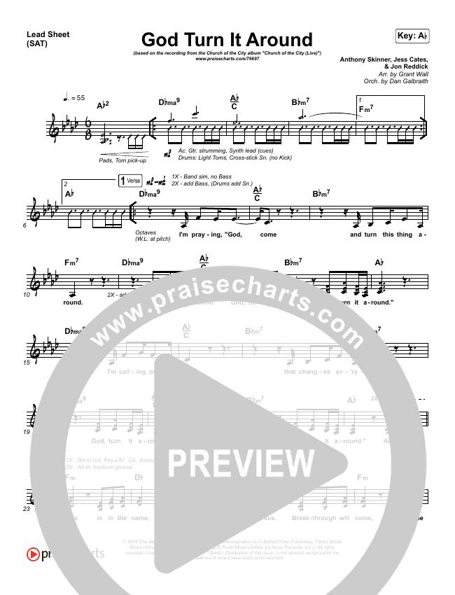 God Turn It Around (Live) Lead & Piano/Vocal (Church Of The City / Jon Reddick)