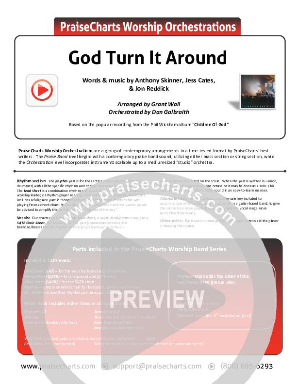 God Turn It Around (Live) Orchestration (Church Of The City / Jon Reddick)